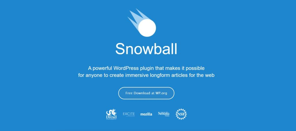Snowball is a Data Visualization wordpress plugin best for lond articles and blogs