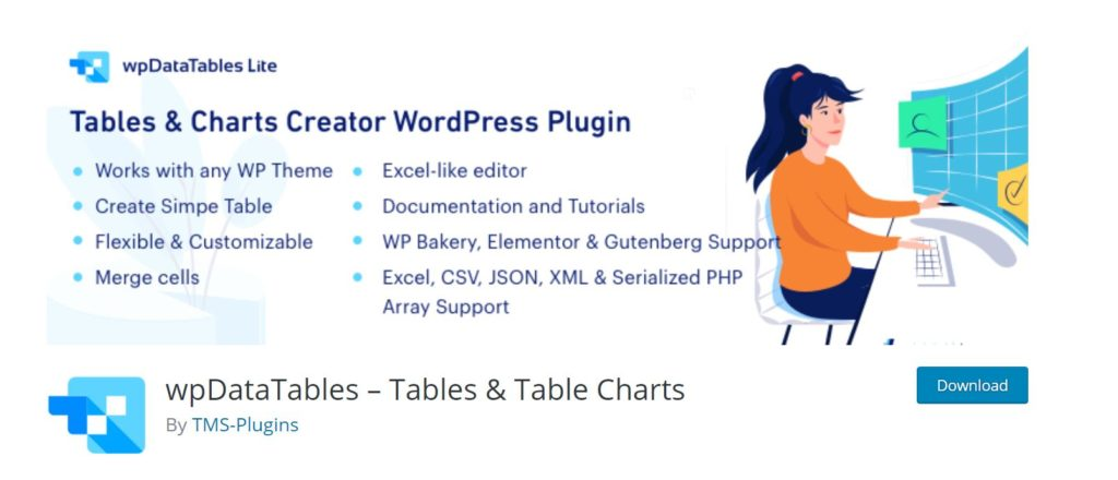It is an advanced wordpress data table generator plugin