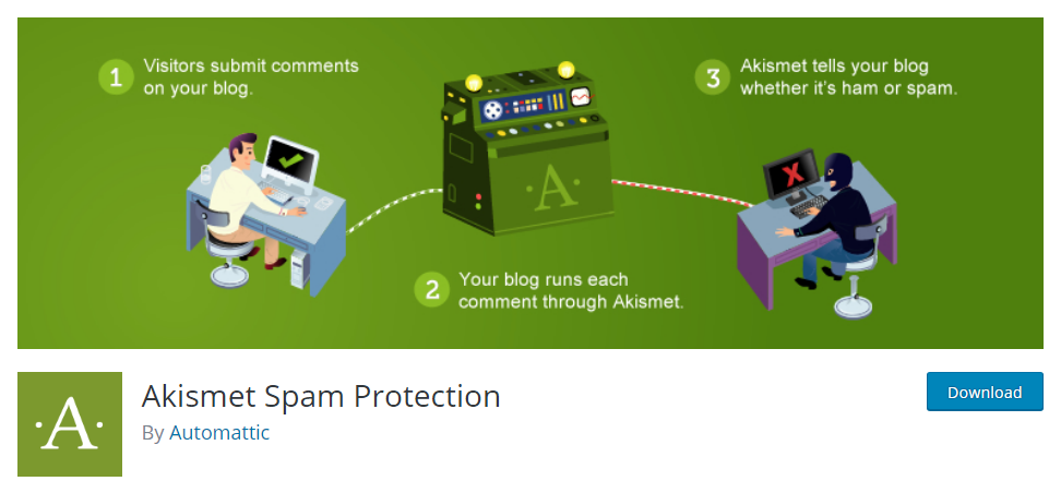 Akismet - top alternative to Google's recaptcha plugin