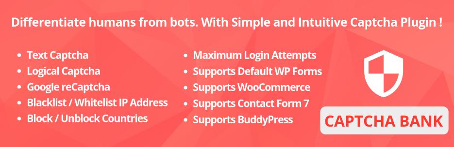 Captcha Bank - WordPress Plugin
