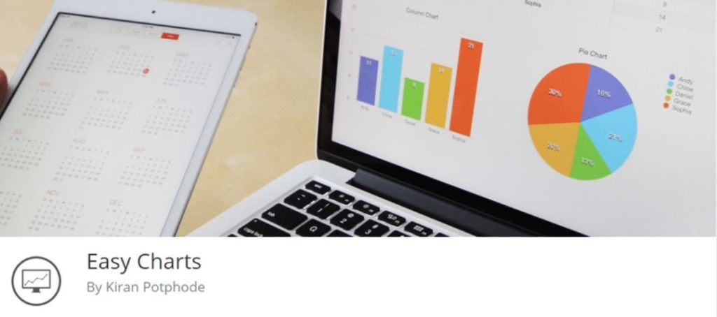 Easy Charts helps in visualizing your data in 12 types of charts