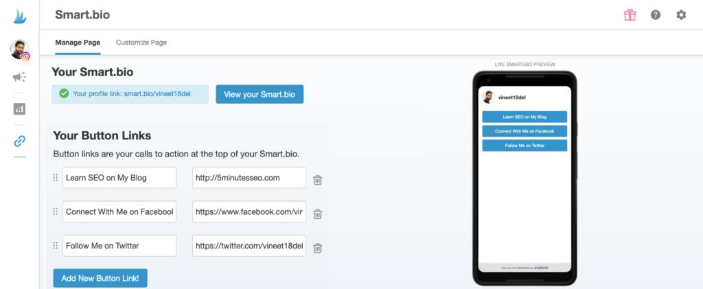 tailwind social media, - Tailwind Smart Bio App