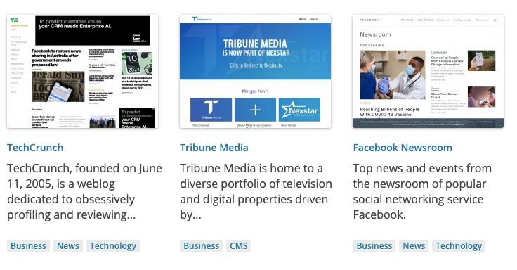 Popular websites using WordPress platform