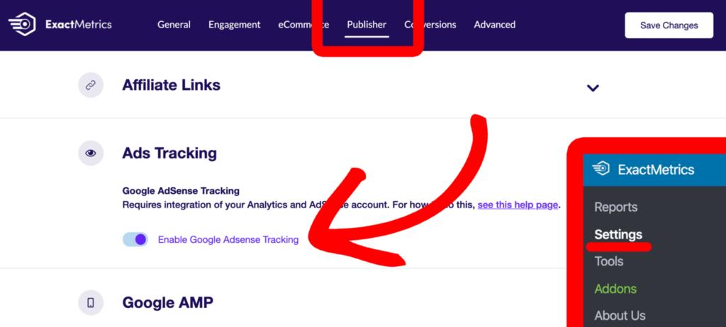 How to Track Google Adsense- ExactMetrics