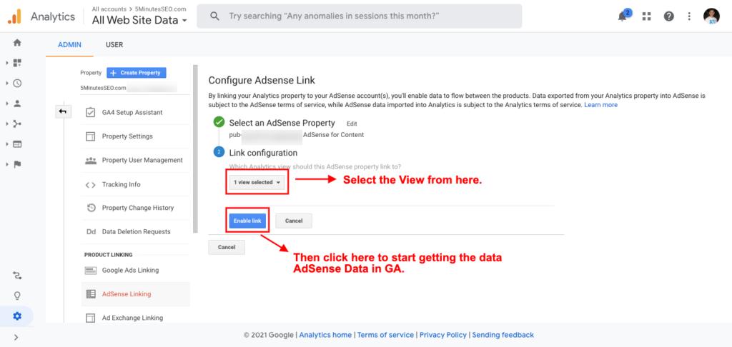 How to Link Google Analytics with Google AdSense?