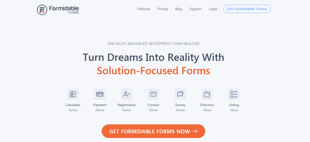 Formidable Forms- Best WordPress Contact Form Plugins