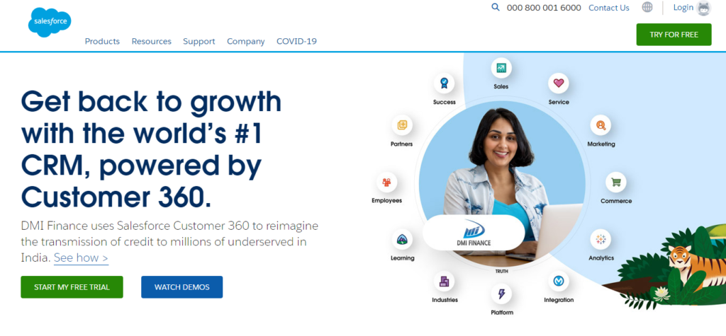 Salesforce- Best Sales Lead Tracking Software