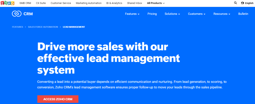 Zoho- Best Sales Tracking Tool