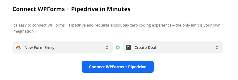 Connect Wpforms to Pipedrive