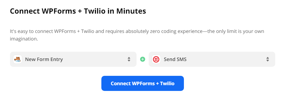 Connect Wpforms to Twilio