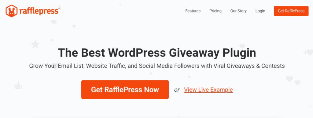 Rafflepress - Best for Hosting Giveaways