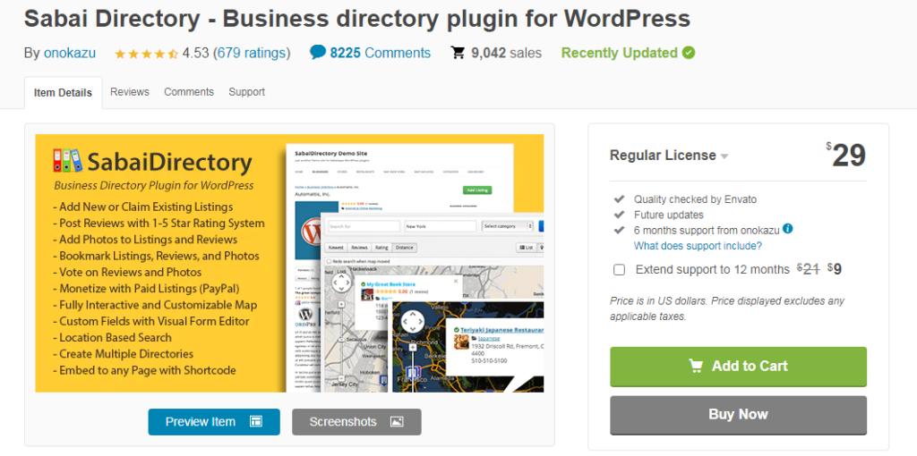 Sabai Directory- Top wordpress directory plugins