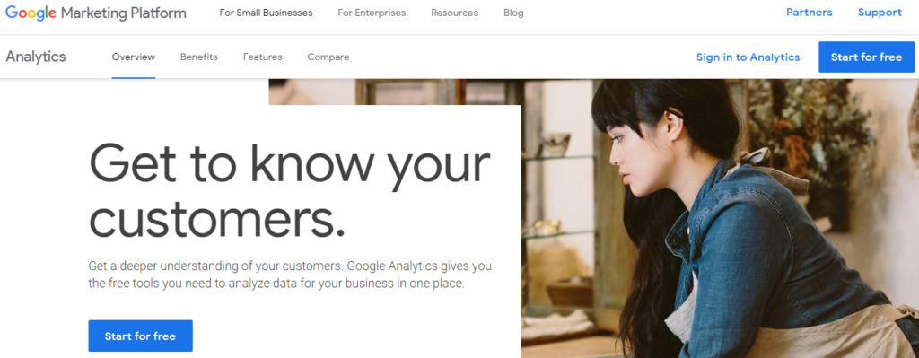 Best Free Website Monitoring Tool- Google Analytics