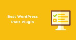 Best WordPress Polls Plugin