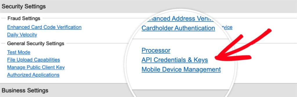 Click on API Credentials & Keys