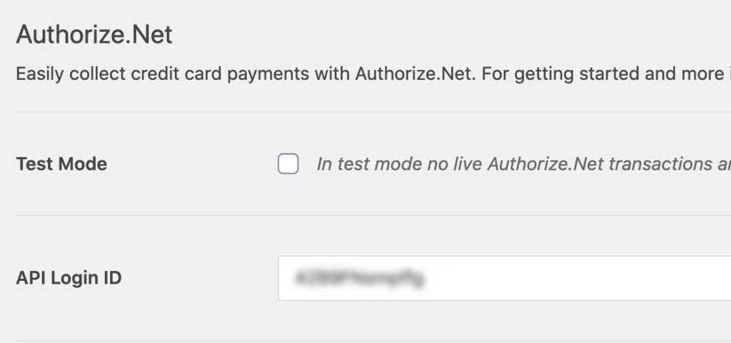 Paste Your API Login ID back into your wpforms settings page