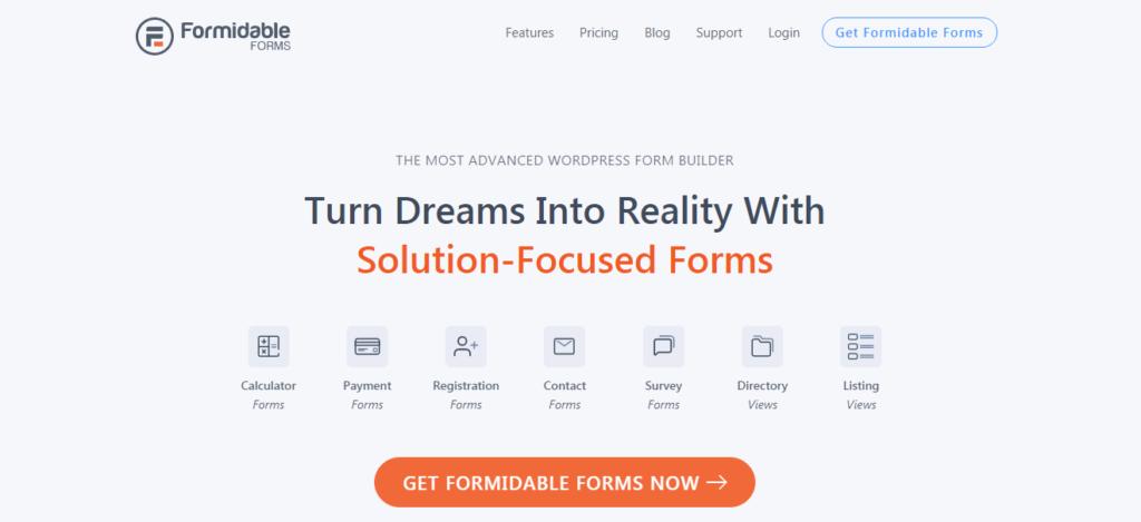 Surveys and polls form builder for WordPress- Formidable Forms