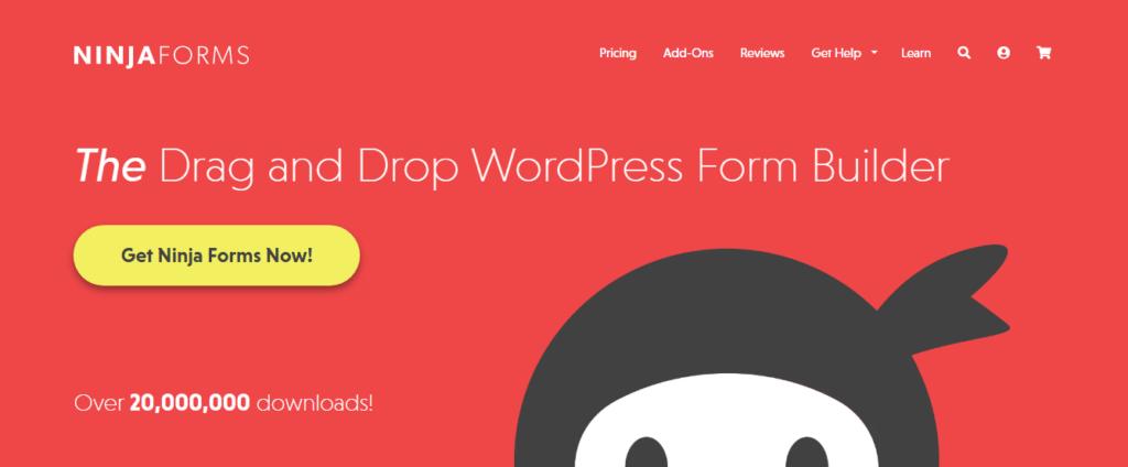 WordPress form builder- Ninja Forms