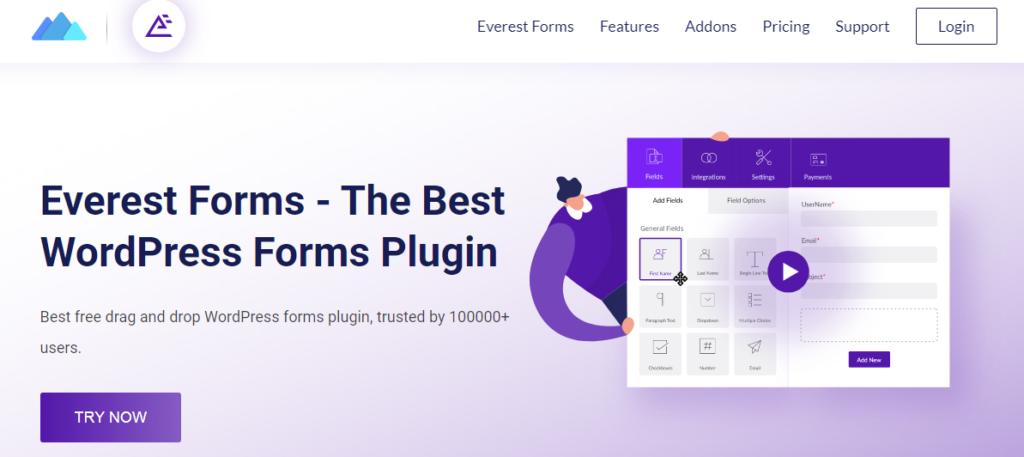 WordPress form builder plugin- Everest Forms