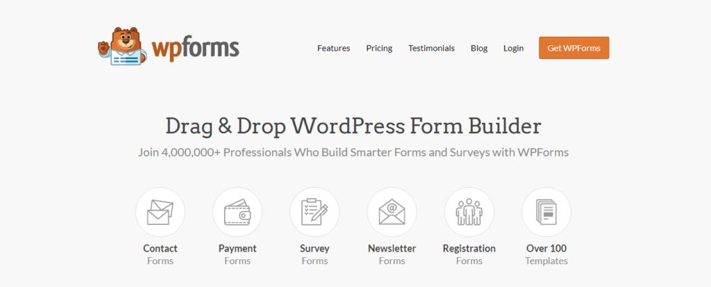 Best drag & drop builder- WPForms