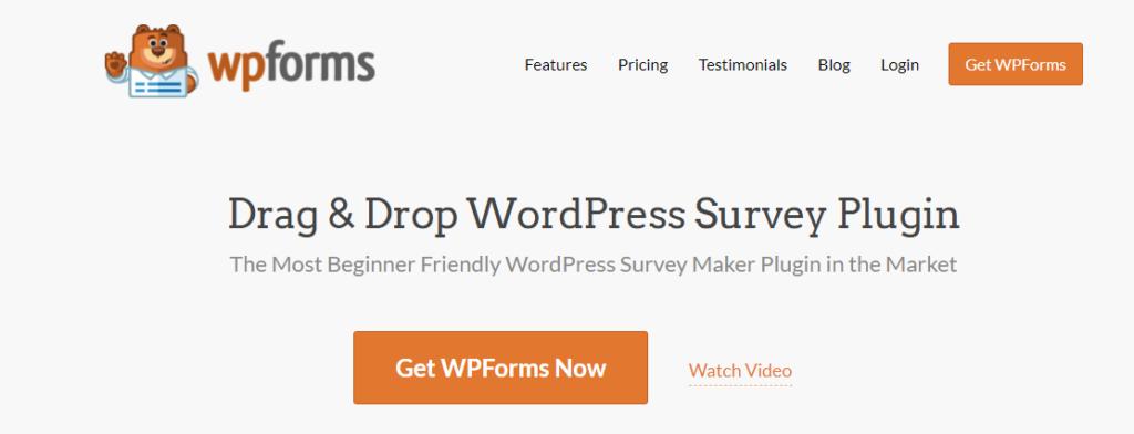 Best survey plugins for wordpress- WPForms