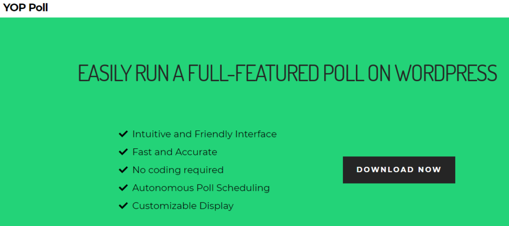 Free wordpress plugins for polls- YOP Poll